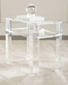 perspex side table , acrylic table,