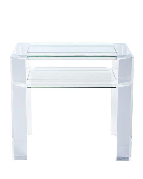 perspex side table , acrylic table, acrylic table 2