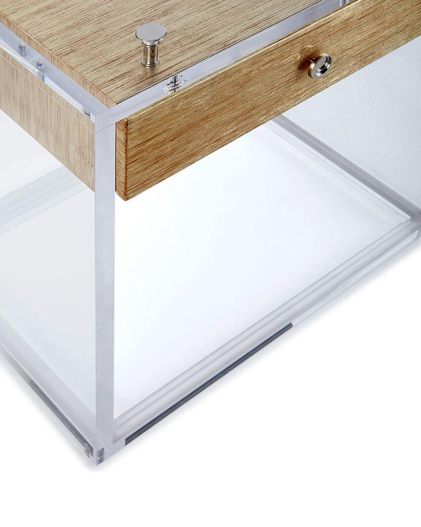 newly design clear leg and metal frame beside table 2