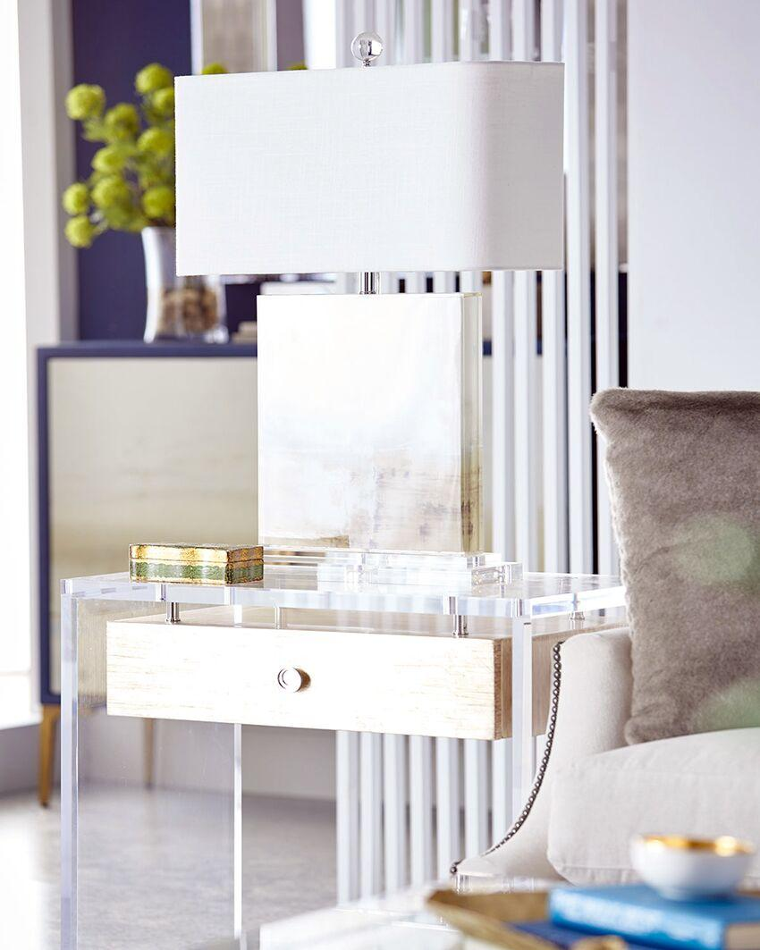 newly design clear leg and metal frame beside table 4