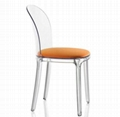 arylic dining chair  full transparent