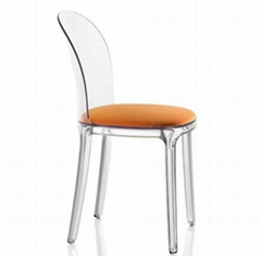 arylic dining chair  full transparent plexiglass chair