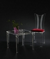 arylic dining chair  full transparent plexiglass chair 3