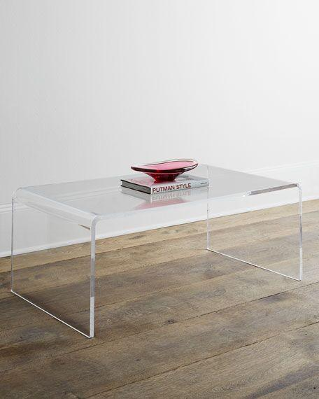 ONE SET THREE PIECES ACRYLIC PERPEX GLASS SIDE TABLES 1