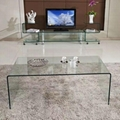 ONE SET THREE PIECES ACRYLIC PERPEX GLASS SIDE TABLES 3
