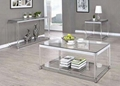 ONE SET THREE PIECES ACRYLIC PERPEX GLASS SIDE TABLES 4