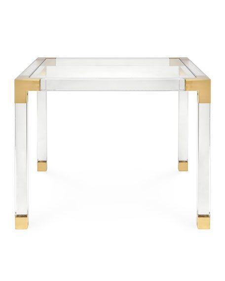 金属镀铬或金框,透明压克力茶几 3