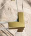 金属镀铬或金框,透明压克力茶几 5