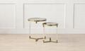 acrylic circular clear coffee table