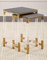 plexiglass lucite cofee table