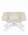 acrylic stool with cushion. lucite stool
