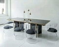 Lucite glass table  transparent perpex glass table 2