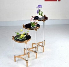 ACRYLIC FLOWER RACK, lucite flower stand