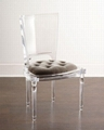 transparent acrylic dining chair with cusion, acrylic banquet chair