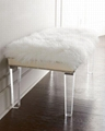 acrylic clear bench with PU cushion,