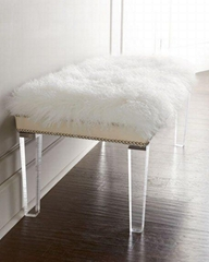 acrylic clear bench with PU cushion, lucite perpexglass bench,acrylic stool