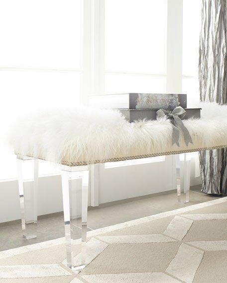 acrylic clear bench with PU cushion, lucite perpexglass bench,acrylic stool 3