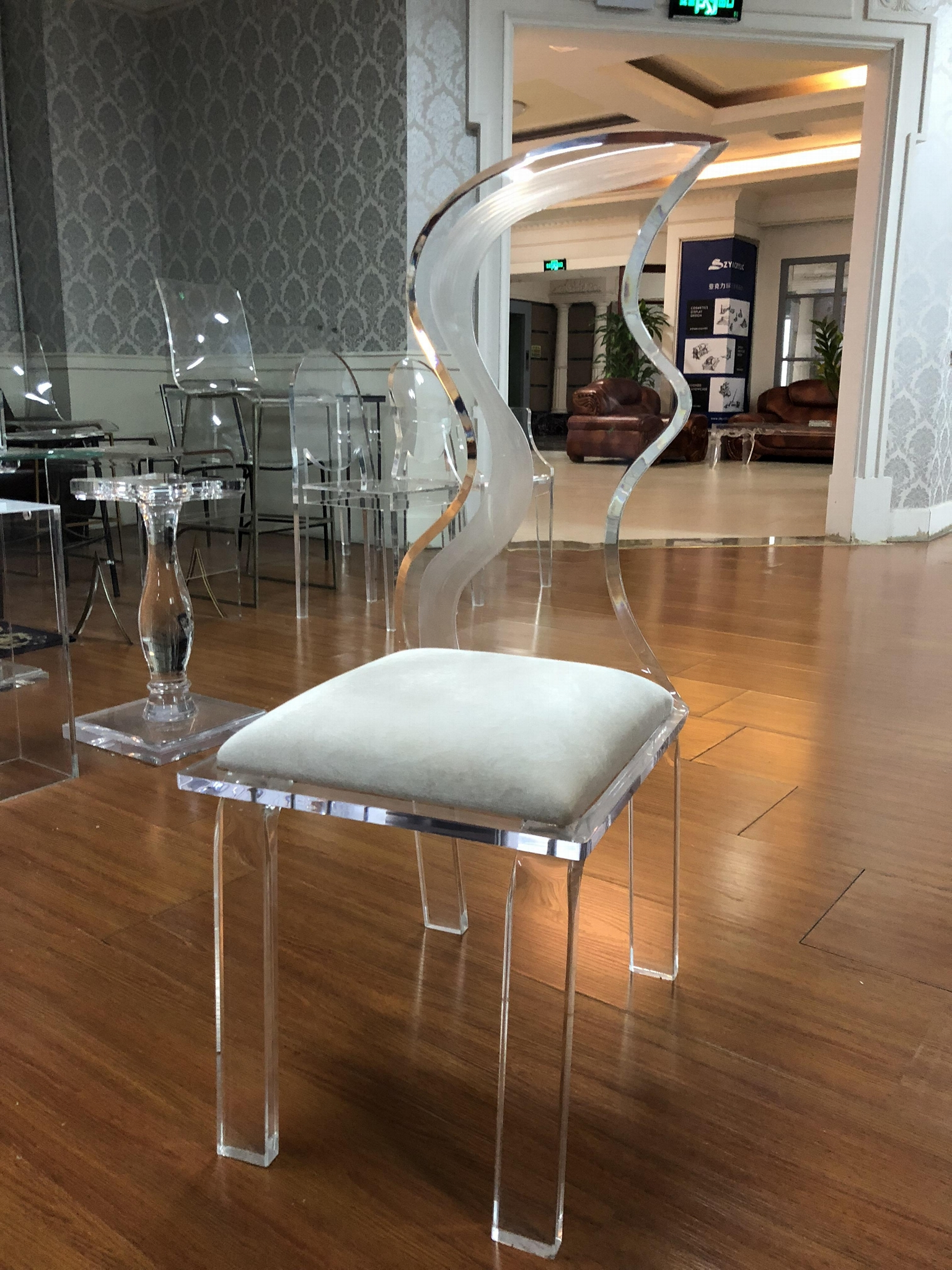 ACRYLIC wedding led chair, led wedding chairs  3