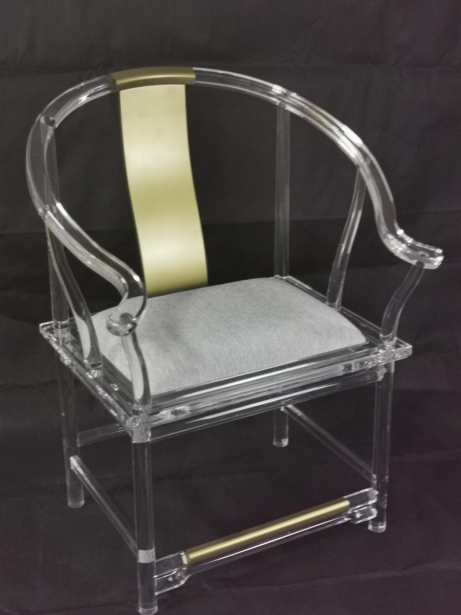 透明压克力古典中式椅子 3
