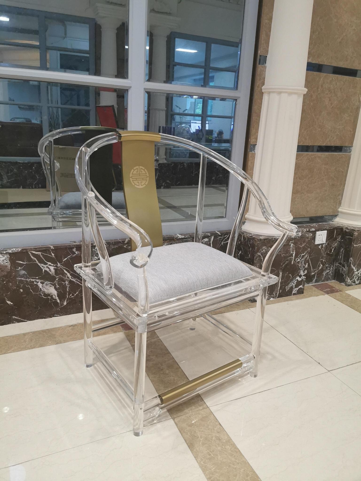 透明压克力古典中式椅子 5