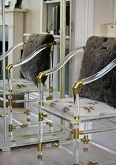 透明压克力古典中式椅子