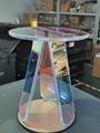 Acrylic rainbow colored end table rainbow acrylic side table 2
