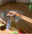 Acrylic rainbow colored end table rainbow acrylic side table 3