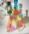 Acrylic rainbow colored end table rainbow acrylic side table 4