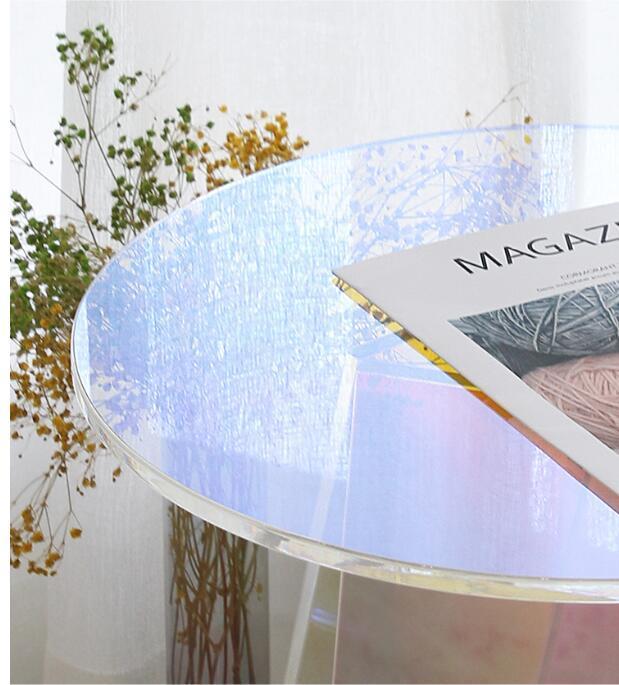 Acrylic rainbow colored end table rainbow acrylic side table 8