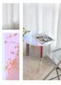 Acrylic rainbow colored end table rainbow acrylic side table 9