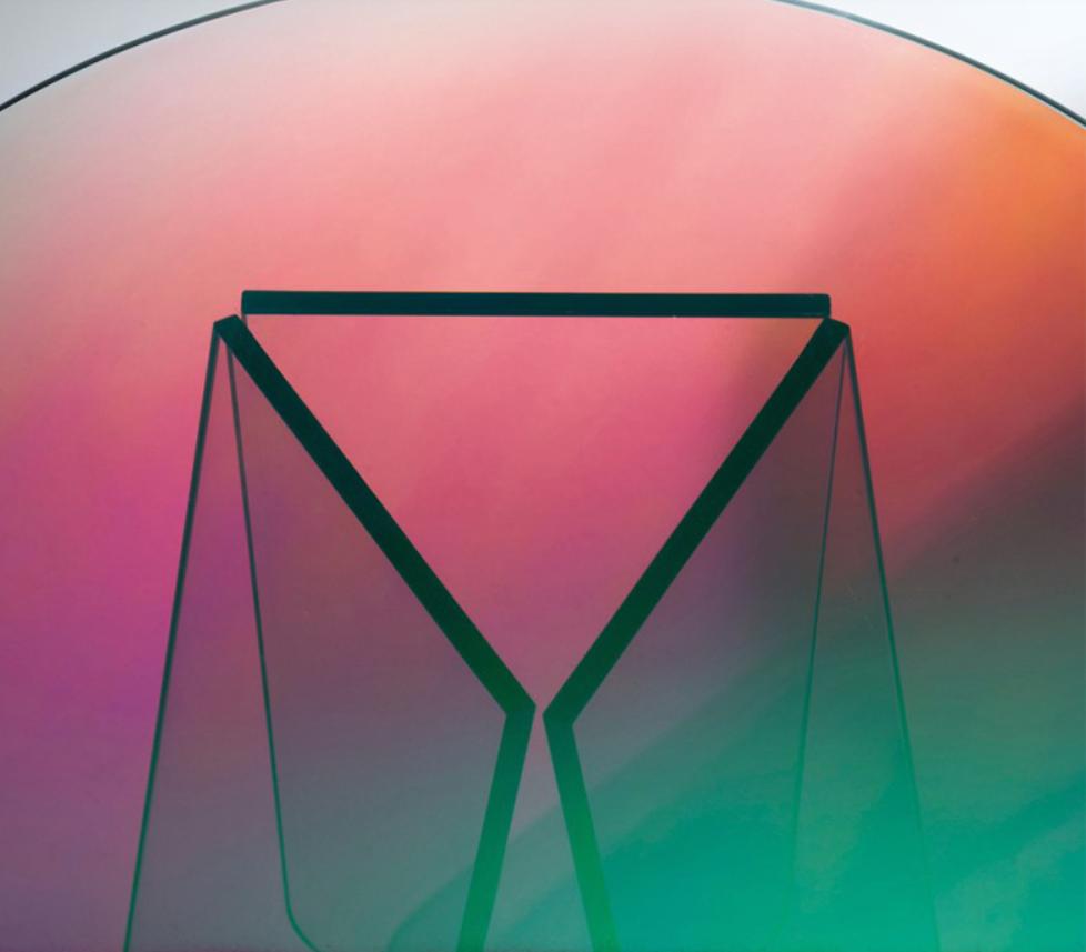 Acrylic rainbow colored end table rainbow acrylic side table 11