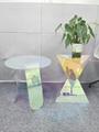 Acrylic rainbow colored end table rainbow acrylic side table 13