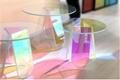 Acrylic rainbow colored end table rainbow acrylic side table 15