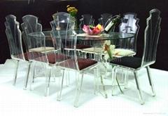 壓克力餐台椅