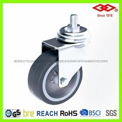 4寸螺钉TPR脚轮塑芯仪器轮