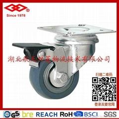 75mm萬向剎車鋼芯天然橡膠輪