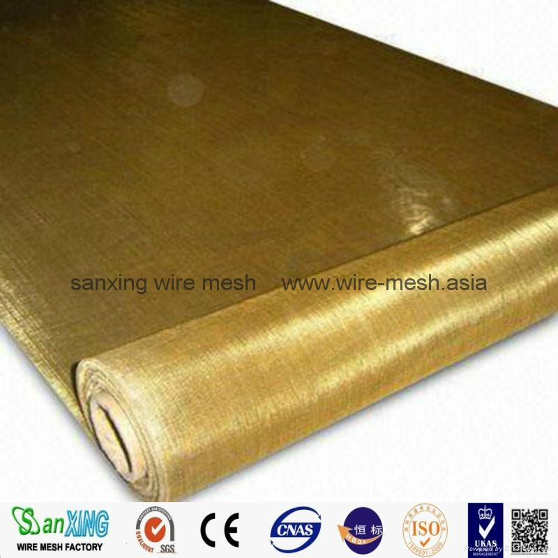 100% Pure brass wire mesh brass screen cloth for filter/sound insulation 2