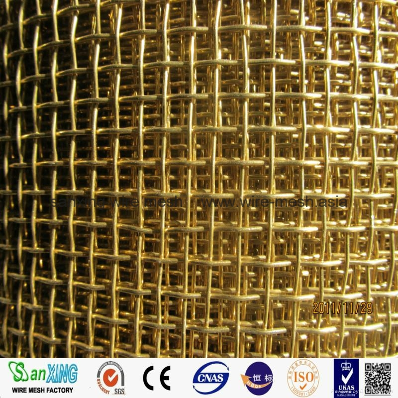 100% Pure brass wire mesh brass screen cloth for filter/sound insulation 3