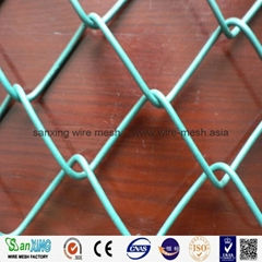 gardeb use pvc coated ga  anized green vinyl coated chain link fence