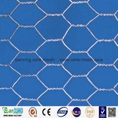 China supplier galvanized chicken wire mesh/PVC coated hexagonal wire mesh(facto