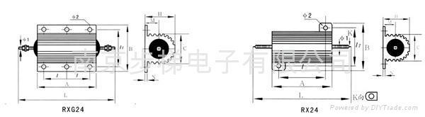 RXG24铝外壳线绕电阻 2