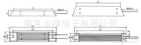 RXLG 梯形金属铝外壳电阻器 2