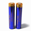 18500 Lithium-ion Battery with 1400mAh 5