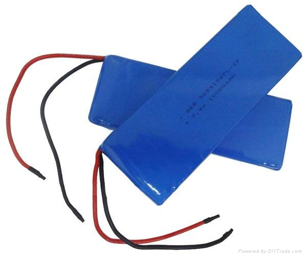 7.4V 10Ah Li-polymer battery HPL9059156 used for industrial products 1