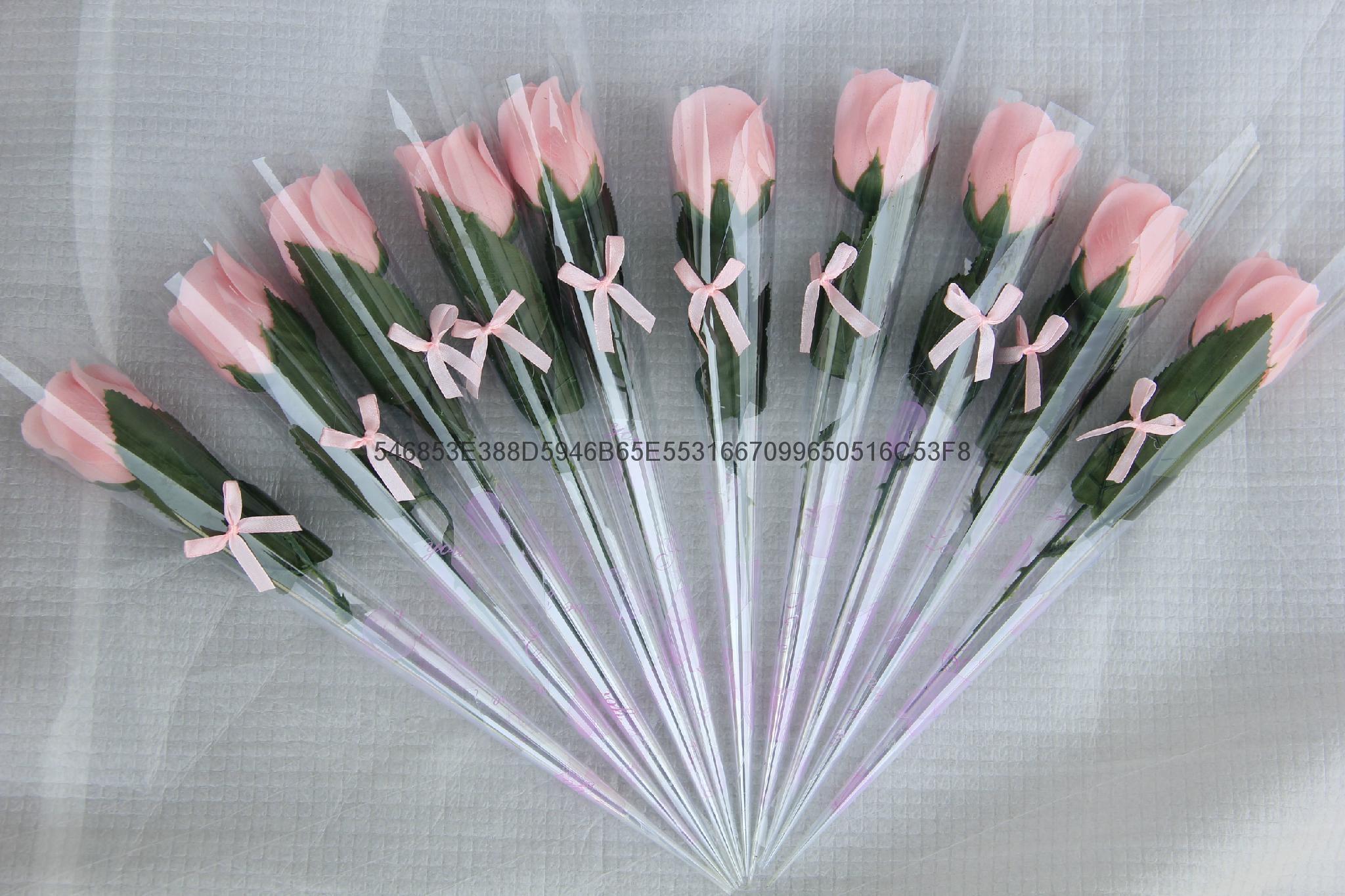 单枝玫瑰纸香皂情人节必备可按要求定制 3