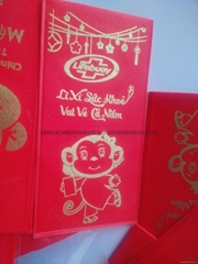 Soluble red envelope paper soap