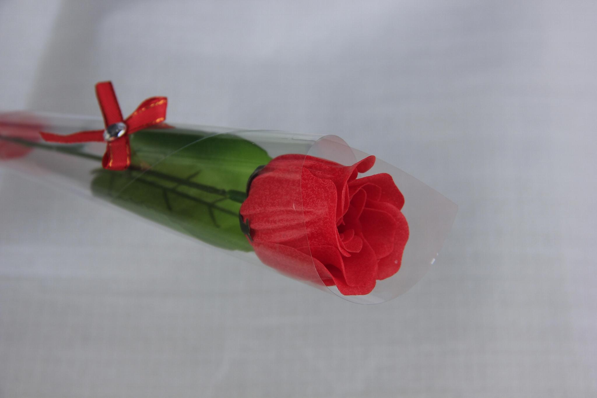 单枝玫瑰纸香皂情人节必备可按要求定制 5