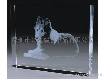 水晶內雕工藝品 4