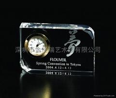 水晶钟表工艺品