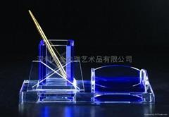 水晶办公文具
